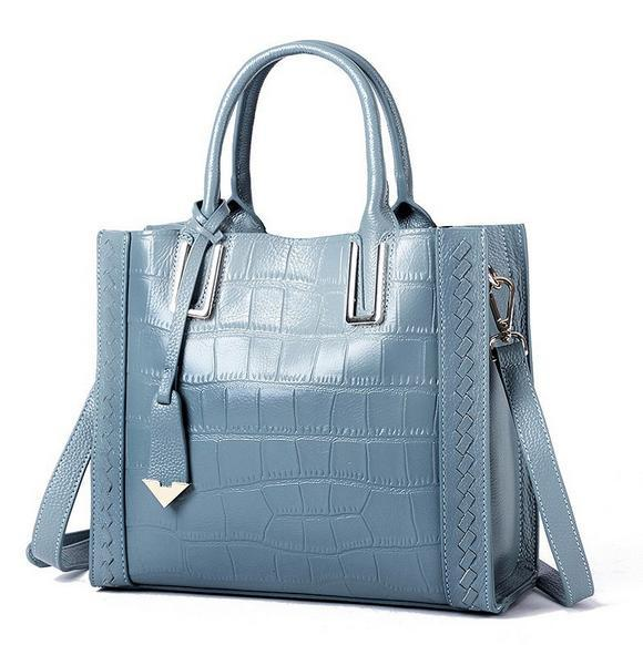 The hottest brand ladies leather handbag European and American high-end crocodile tote bag Elegant trend briefcase Free shipping