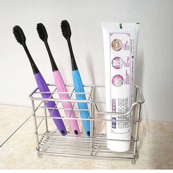 Toothbrush Holder Toothpaste Razor Stand Rack Bathroom Organize Stainless Steel
