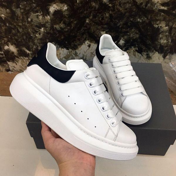 Dama dermis de alta calidad cómoda punta redonda negro blanco zapatos ejercicio entrenamiento tamaño 35-46 styly europeo y americano xsd19042608