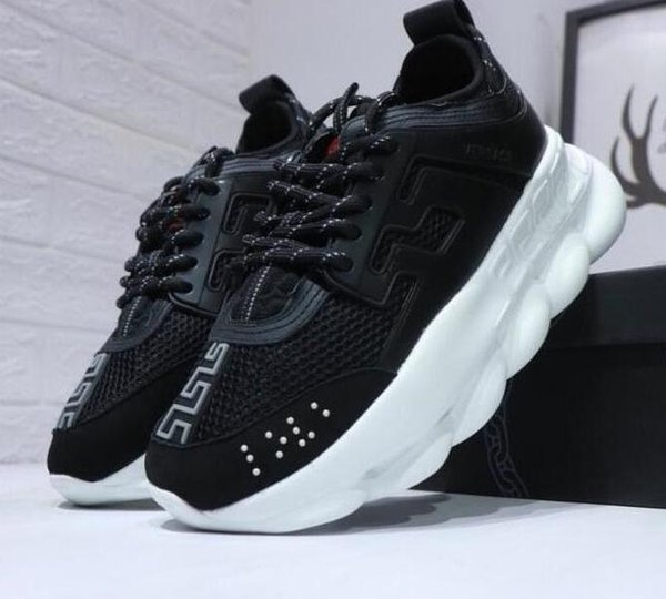 yrr CHAIN REACTION Love Trainer Lightweight red black ght weight chain linked designer fashion Casual Shoes dust bag Euro 36-46