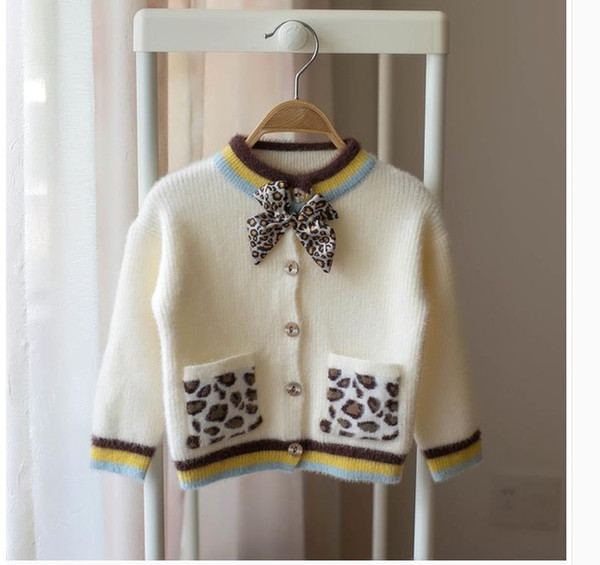 Корейский 2019 новый осенний кардиган ребенка свитер с коротким рукавом с длинными рукавами куртка для девочек 0-1 лет 234 лет