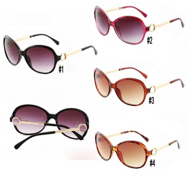 Moda gafas de sol universales Gafas de sol de lujo para mujeres Gafas Retro Gafas 3 colores Mujeres Gafas de sol Piernas de metal
