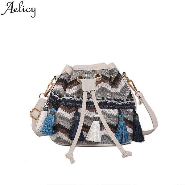 Aelicy Brand Wild Small Shoulder Bag Ladies Messenger Bag Drawstring Dumplings Package Women Bags 2019 Summer