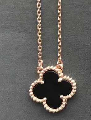rose gold+black necklace