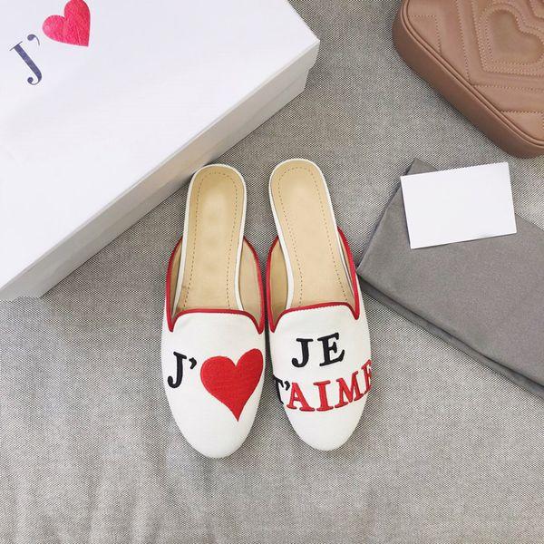 2019 moda lüks tasarımcı kadın ayakkabı terlik eski yıldız tasarımcı çevirme terlik kutusu ile boyutu 35-41-452