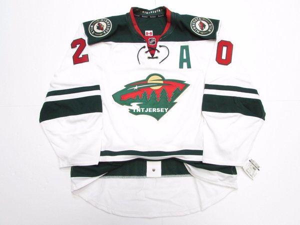 Cheap custom RYAN SUTER MINNESOTA WILD AWAY HOCKEY JERSEY stitch add any number any name Mens Hockey Jersey XS-5XL