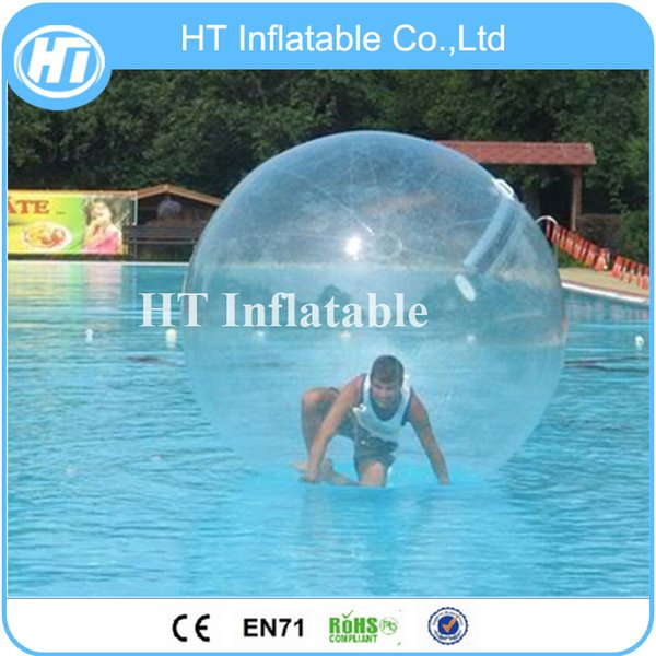 2M Transpent Water Walking Ball Water Bounce Ball Floating Water Zorb Ball for Pool Free Shipping by Express