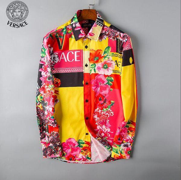 Camisa a cuadros autocultivo marca 2019 de negocios estadounidenses, diseñador de moda, camisa de manga larga de algodón, camisa casual camisa a rayas 05