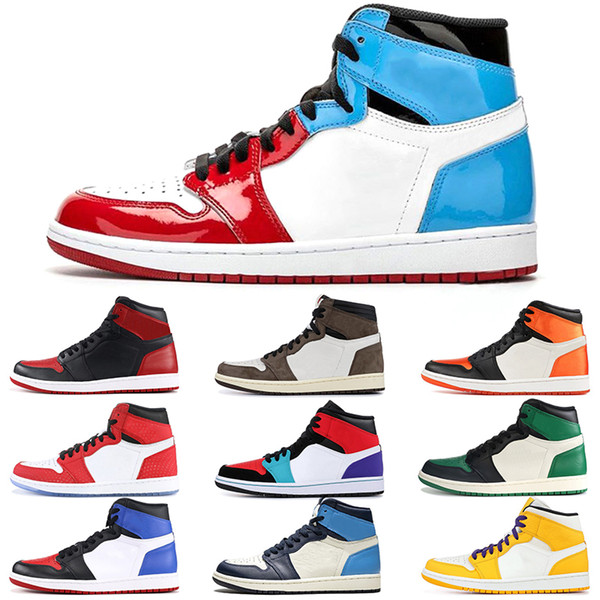 Best Basketball Shoes 2020.2020 Cheap 1 Men Basketball Shoes Top Banned Obsidian Unc Backboard 1s Designer Chaussures Trainer Sport Sneakers Size 36 46 Best Basketball Shoes