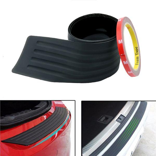 Car Styling 90 / 105cm En Caoutchouc Butée Arrière Garde Protecteur Tronc Sill Plaque Garniture Cache Couverture Pour Toyota RAV4 Avensis Auris Corolla