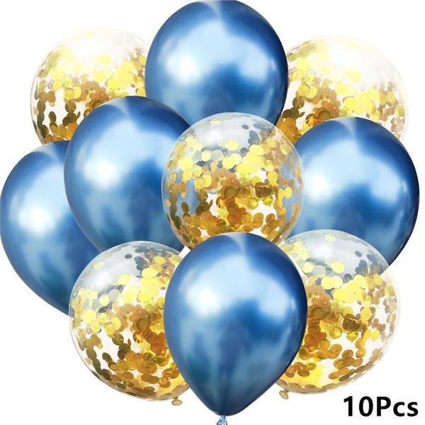 10- Metallblaues Gold