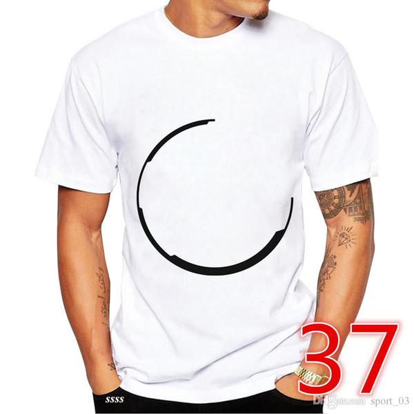 2018 été nouvelle jeunesse hommes femmes t-shirt mode extérieur T-shirt taille S-3XL blanc court DFFSEGGBSB 000020037