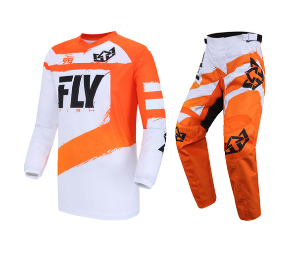 top popular Orange Jersey & Pant Combo Set MX ATV BMX Motorbike Riding Gear Motocross Dirt Bike Set 2020