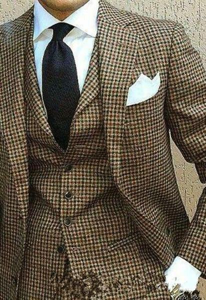 New Stylish Design Two Buttons Wedding Groom Tuxedos Notch Lapel Groomsmen Mens Dinner Blazer Suits (Jacket+Pants+Vest+Tie) 497