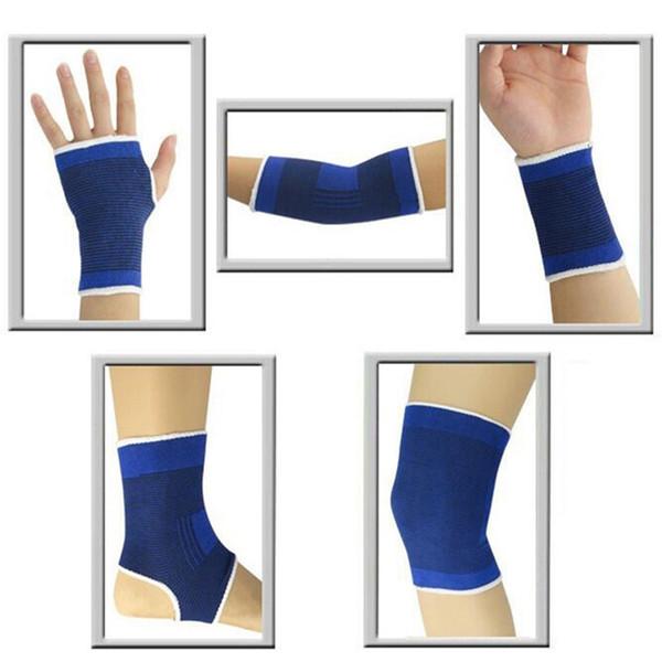 1 Pair Elasticated Knee Ankle Elbow Wrist Band Pad Brace Leg Arthritis Injury Gym Sleeve Elasticated Bandage Ankle Brace Sports #146742