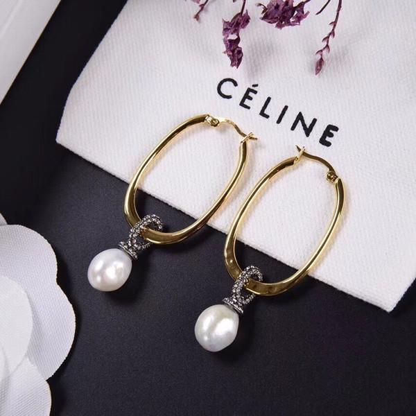 Boucles d'oreilles pour femmes bague perle or boucles d'oreilles boucles d'oreilles mode simple casual sauvage comment faire correspondre sont belles