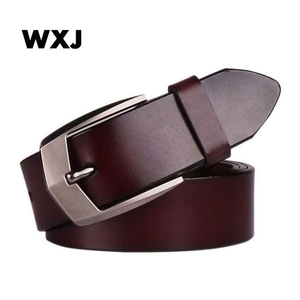 WXJ male belt for mens high quality cow genuine leather belts 2017 hot sale strap fashion new jeans pin Buckle WL035