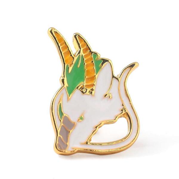 Spirited Away White Dragon Enamel Brooches Pins Miyazaki Badge For Women Men Lapel Denim Shirt backpack bags