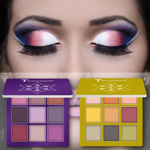 Shiny glitter diamond eyeshadow palette green blue purple peach color flash shimmer eyeshadow waterproof long lasting Makeup