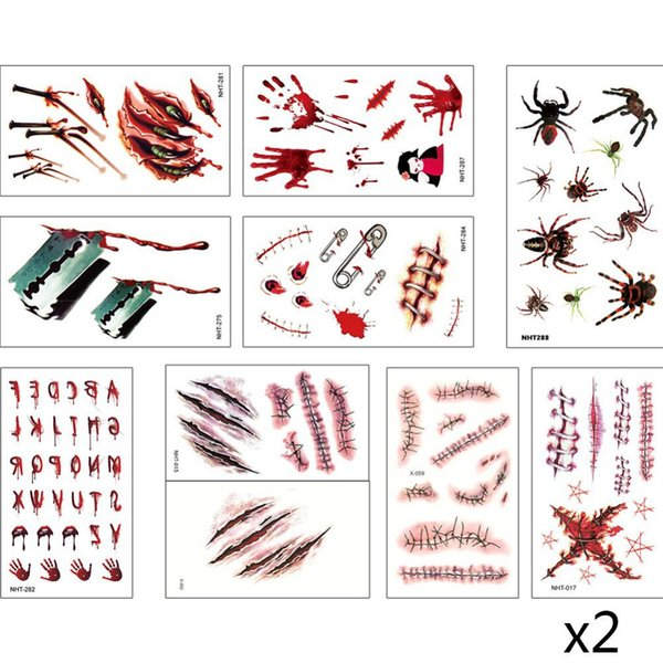 20pcs/set Waterproof Temporary Tattoo Body Art Cute Carton Pattern Print Beauty for Kids Women Fake Tattoo Creative