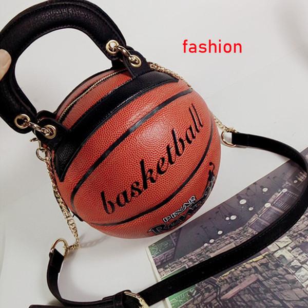 Las señoras de las mujeres bolsas de mensajero nueva moda bolsa de baloncesto forma