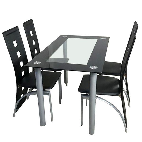 Tavolo Da Cucina Con 4 Sedie.Acquista Set Tavolo Da Pranzo Con 4 Pezzi Sedie Tavolo Da Computer