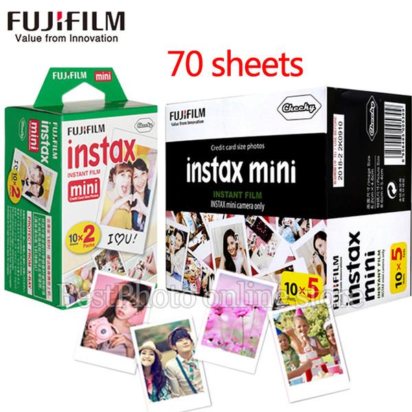 70 sheets Fujifilm instax mini film white Edge 3 Inch wide film for Instant Camera mini 8 9 7s 25 50s 90 SP1 Photo Paper