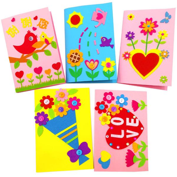 Vliesstoffe DIY Handwerk dreidimensionale Grußkarte Handbuch machen Materialpaket senden Umschläge Muttertagsgeschenk 1 8mdC1