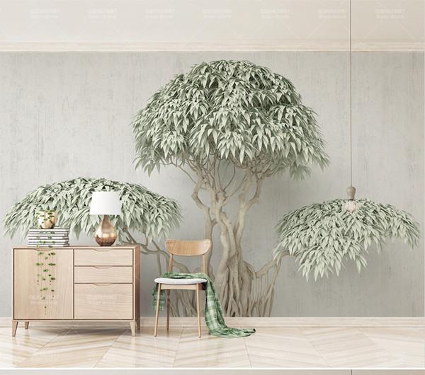 Custom Wallpaper 3d New Creative Tree, Modern Minimalist Living Room Bedroom Background Wall Decoration Wallpaper