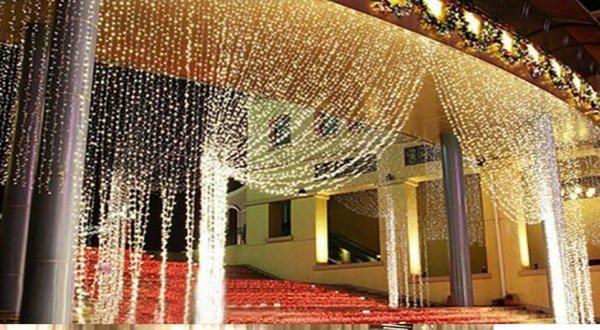 10M*8M Curtain lights christmas light 2600 led Christmas ornament lights Flash Colored Fairy wedding Decor 9 color
