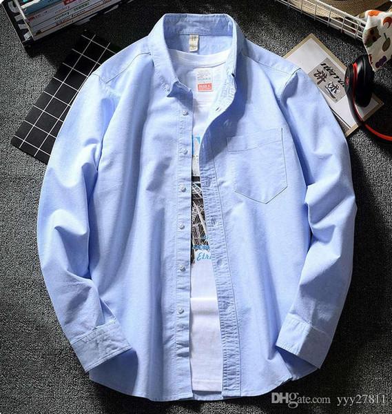 version coréenne de la mode japonaise chemise blanche oxford hommes occasionnels marque les étudiants de la jeunesse tendance à manches longues Harajuku printemps