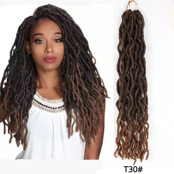 best selling Hot! 7colors Synthetic Crochet Braids Curly 12  18inch Nu Locs Crochet Extensions 20strand Goddess Faux Locs Crochet Hair
