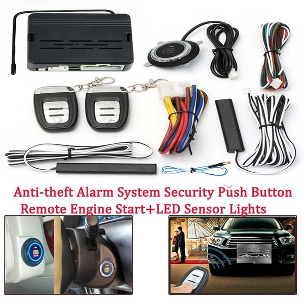 12V Car Remote Control Kit Push Button Start-up Car Alarm Ignition Start Security System Key Engine Start Push Button Remote Kit