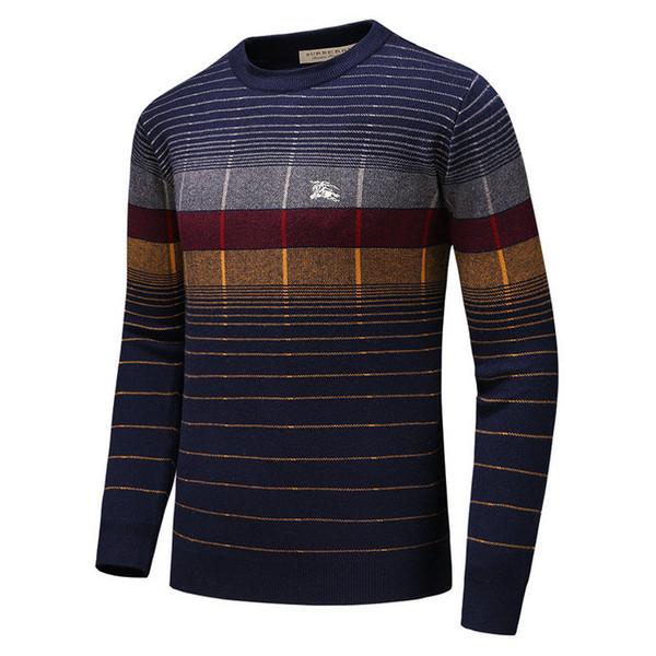 Мужской свитер новая тенденция мода дикий ручной работы рыцарь вышивка свитер удобный теплый свитер