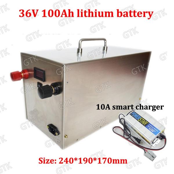 36 В 100ah литиевая аккумуляторная батарея 12 В 24 В 100AH для 4000 Вт электрический трицикл мотороллер транспорт клуб Солнечный ветер + зарядное устройство 10А