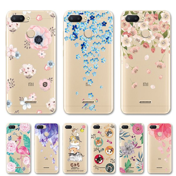 Cute Cat 3d Relief Art Print Case For Xiaomi Redmi 6 Flower Lace Phone Case For Xiomi Redmi 6 Pro Silicone Back Cover Redmi 6a