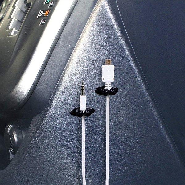 자동차 전선 케이블 홀더 다기능 타이 클립 해결사 주최자 차량용 충전기 선 버클 고품질 헤드폰 케이블 클립