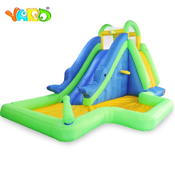 YARD Factory Kids Outdoor inflatable Water Slide With Pool Inflatable Bounce House