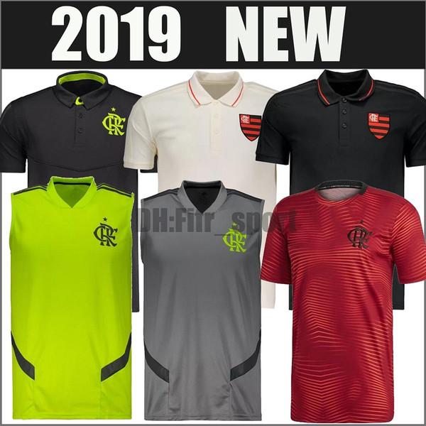 19 20 Flamengo Camisas de Futebol 2019 2020 de Arrascaeta 10 DIEGO Vitinho AWAY colete de Goleiro top tanque homem mulheres polo camisas de Treinamento de Futebol