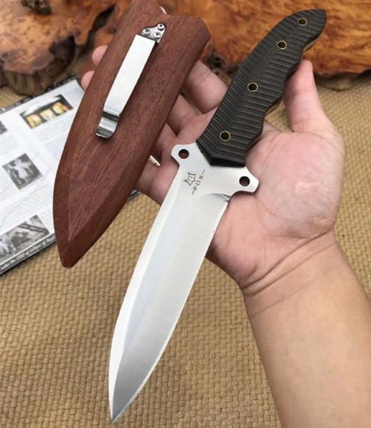 Wilde Wegerich 5,3 Zoll gerade feststehende Klinge Messer taktische Selbstverteidigung Edc Messer Sammlung Jagdmesser Weihnachtsgeschenk a2180