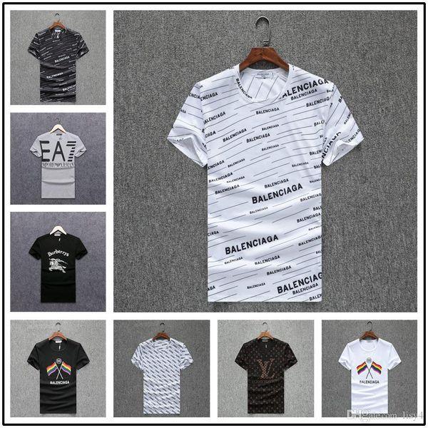 20 estilo de diseño de lujo camiseta Europa italia impresión camiseta Hip hop moda mujer camiseta impresión letras verano camisetas mujer corto Slee