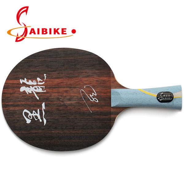 Profissional Longo 5 raquete de tênis de mesa ébano tênis de mesa lâmina de ping pong bat reta FL