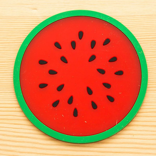 Modern Fruit Coaster Colorful Silicone Cup Drinks Holder Mat Tableware Placemat