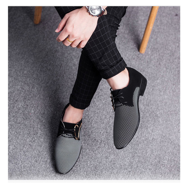 Men Leather Shoes Office Men Dress Suit Shoes Italian Style Wedding Casual Shoes Pointed Toe Business Man Shoe