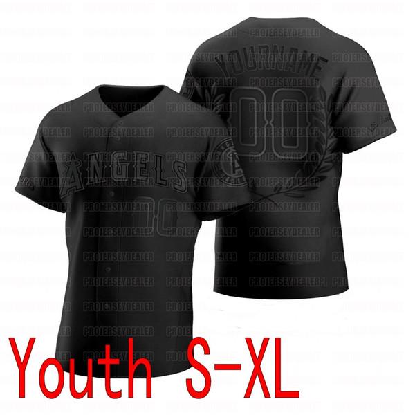 Черный молодежь S-XL