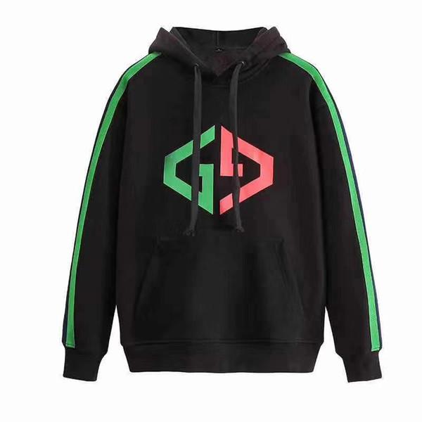 New luxury men 039 weat hirt autumn geometry hoodie cool lim ca ual weat hirt hoodie, Black