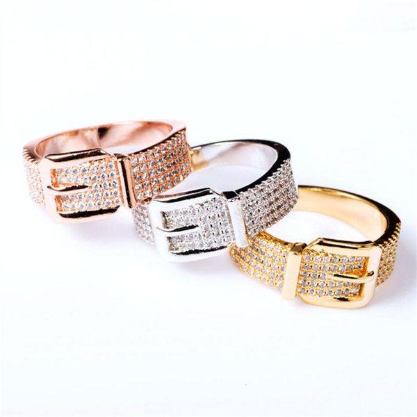 Fashion Exquisite Rings Luxury Belt Bracelets Slim Bangles Engagement Rings Gold Silver Bracelet Rose Belts Rings Jewelry Lover Gift