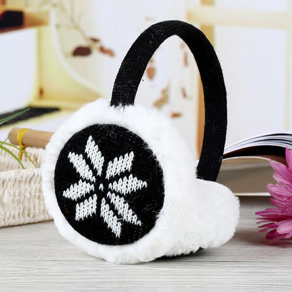 Cute Plush fluffy Headband Ear muffs girls women earmuffs Autumn Winter Warmer Ear cover in deer snowflake knitted protector