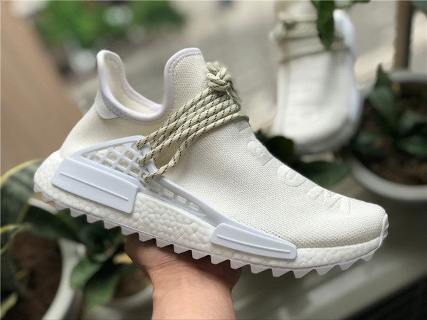 purchase cheap 26108 6a4b4 2019 Pharrell Williams X Originals NMD Hu BC Cream AC7031 White Human Race  PW Mens Running Shoes OutDoor Sneakers Authentic Quality With Box From ...