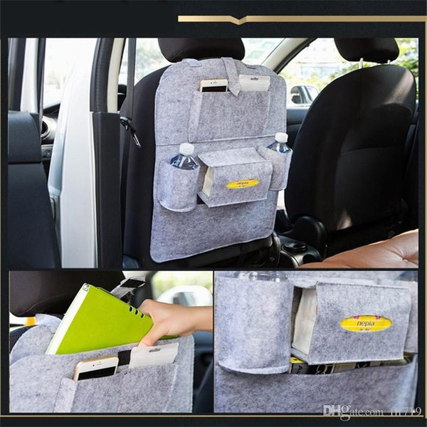 Auto Car Back Seat Storage Bag Car Seat Cover Organizer Holder Bottle Box Magazine Cup Phone Bag Backseat Organizer